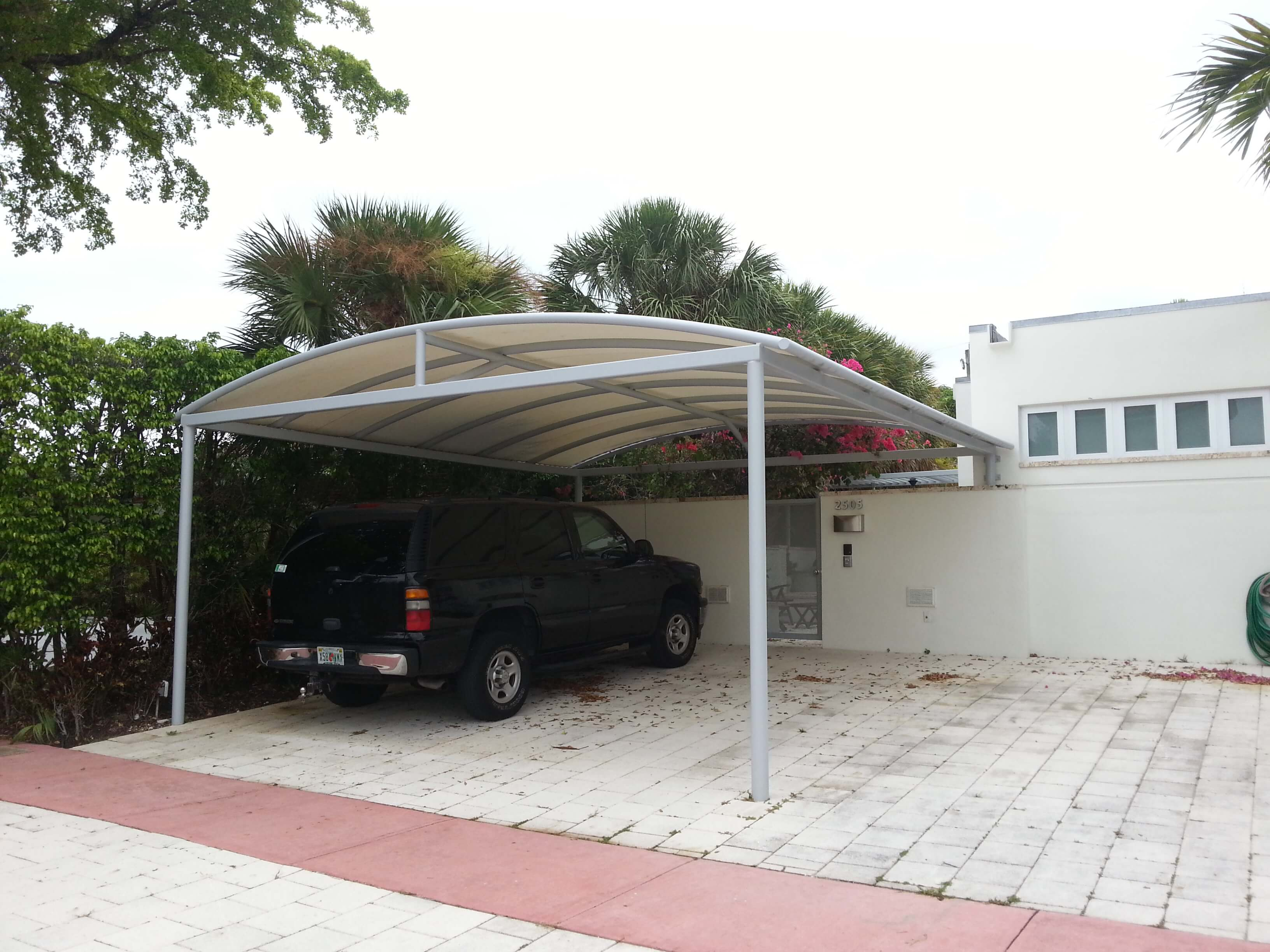 Custom Canopy installed at private residence in Miami Beach, FL