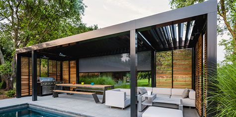 Louvered roof